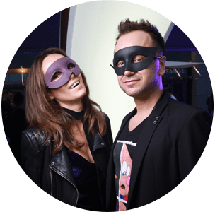 Fashion masquerade party